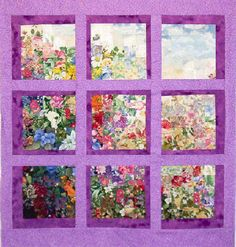Watercolor quilt and Attic window combined- good choices.
