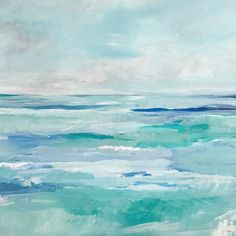 "194 Likes, 5 Comments - Megan Elizabeth (@artbymegan) on Instagram: """"Turquoise Sea"", 24x36, available at www.artbymegan.com."""