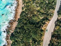 an aerial perspective of the Great Ocean Road, Lorne, Australia Australia Day, Australia Travel, London Winter, Forest Road, Road Trip Essentials, Future Travel, Van Life, Day Trips, City Photo