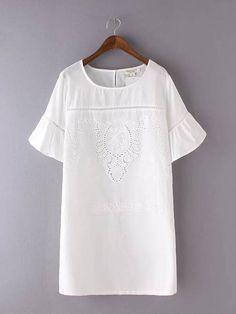 Vestido Branco de Lese Casual - Compre Online
