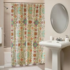 Espirit Spice Fabric Shower Curtain