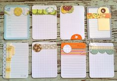 journaling cards | ... journaling cards. Tags and more tags, paper doilies, library cards and