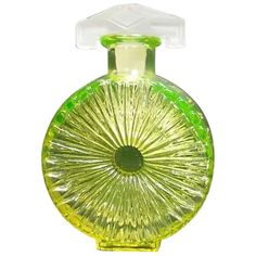 Florescent Yellow Perfume Bottle with Satin Glass Stopper from somethingwonderful on Ruby Lane Perfume Hermes, Perfume Versace, Perfume Diesel, Perfume Atomizer, Antique Perfume Bottles, Vintage Perfume Bottles, Perfume Good Girl, Fragrance, Salvia
