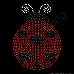 Rhinestone Iron On Transfer Ladybug Large Crystal by 6dollarBling, $8.99