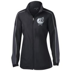 New York Jets NFL Ladies' Piped Colorblock Windbreaker - Lapommenyc Store Carolina Panthers, Trekking Outfit, Hiking Jacket, Hiking Boots, Outdoor Outfit, Windbreaker Jacket, Lady, Navy And White, Color Blocking