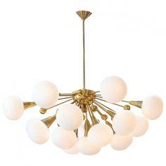 Murano Glass Globe Sputnik Chandelier