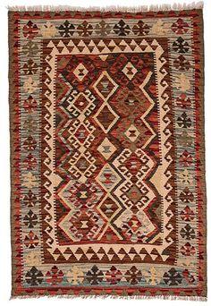 kilim - Kilim Afegão 141x104 cm.