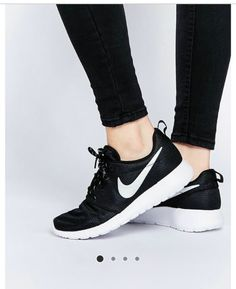 Buy Nike Roshe Run Black Trainers at ASOS. With free delivery and return options (Ts&Cs apply), online shopping has never been so easy. Get the latest trends with ASOS now. Nike Shoes Cheap, Nike Free Shoes, Nike Shoes Outlet, Running Shoes Nike, Cheap Nike, Running Wear, Nike Free Runners, Nike Roshe Run Black, Souliers Nike