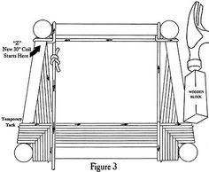 Figure 3 - How to Weave Fiber Rush  Chair Seats