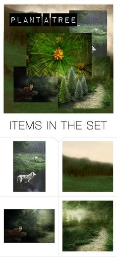 """""""Plant a tree"""" by hedelmiina ❤ liked on Polyvore featuring art and artflashmob10"""