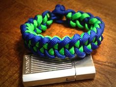 The Shark Jaw bone is another really cool bracelet pattern that is also easy to tie. A beginner level bracelet pattern. It is very similar to a cobra stitch. I really like this pattern and like the Cobra weave it is also a reversible bracelet. Here is the backside of the bracelet with the green […]