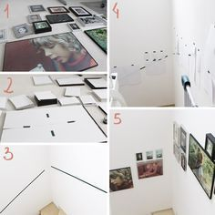 {DIY-Freutag} Tutorial: Bilder an der Treppe anbringen - How to - Tips for creating a stairway photo gallery