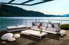 The PURE COLLECTION combines seating comfort with timeless design and maximum . Outdoor Sofa, Outdoor Furniture, Outdoor Decor, Exterior Design, Interior And Exterior, Teak, Corian, Southern Homes, Timeless Design