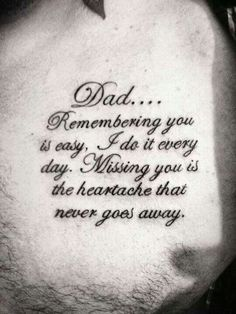70 Dad Tattoos for Men – Memorial Ink Design Ideas – Cute Tattoos Tattoo Tod, Tattoo Mama, Daddy Tattoos, Father Tattoos, Tattoo Life, New Tattoos, Body Art Tattoos, Tattoos For Guys, Tatoos