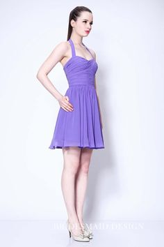 Purple Halter Fit And Flare Party Short Dress Formal Dress Shops, Prom Dresses Long With Sleeves, Backless Prom Dresses, Short Dresses, Homecoming Dresses For Sale, New Years Eve Dresses, Taylor Swift, Dark Purple Bridesmaid Dresses, Cocktail Gowns