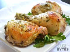 Pollo troceado marinado a la griega