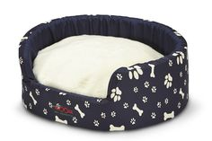 SNOOZA BUDDY PET BED - NAVY PAWS'N'BONES