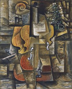 MoMA | The Collection | Pablo Picasso. Violin and Grapes. Céret and Sorgues, spring-summer 1912