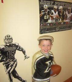 Tony's godson is on pinterest!! Little Army fan :)