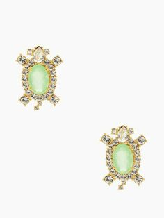 time to come out of your shell and shine—sea turtle-inspired land & sea studs by kate spade new york (may 2014)