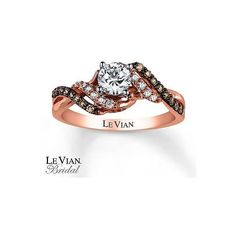 Le Vian Engagement Ring 3/4 ct tw Diamonds 14K Strawberry Gold ❤ liked on Polyvore featuring jewelry, rings, 14k yellow gold ring, 14k engagement ring, 14k gold ring, 14 karat gold ring and diamond bridal rings