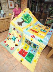 Some of our wonderful quilting and textiles projects you have been inspired to make - then find out how to do them with our video tutorials at Justhands-on. Project Yourself, Show And Tell, Primary School, Love Is All, Quilt Making, Beach Mat, December, Outdoor Blanket, Fabrics