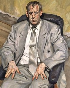 Lucian Freud, Man in Silver Suit, 1998, Private Collection