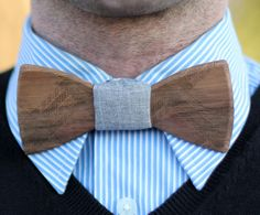 Wooden Bow Tie.  Oh yes I would ;-)