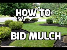 How to Bid Mulch - Professional Estimating http://youtu.be/ug0SpygGqag How to Calculate and Bid Mulch rubber mulch and rock for Mulch beds. How to compete with Low Ballers and Then Up sell for Tremendous Profits. Money Is in the MULCH! Mulch has tremendou