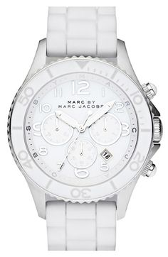 MARC BY MARC JACOBS 'Rock' Large Chronograph Silicone Watch | Nordstrom