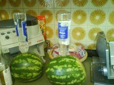 Wassermelone mit Wodka (Melodka) - Rezept