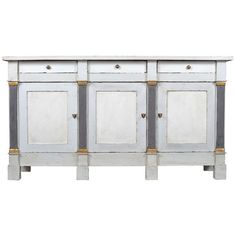French Directoire Style Walnut Buffet | From a unique collection of antique and modern buffets at http://www.1stdibs.com/furniture/storage-case-pieces/buffets/