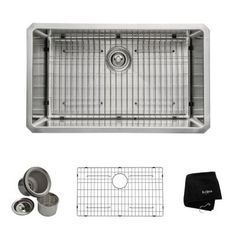 KRAUS All-in-One Undermount Stainless Steel 30 in. Single Bowl Kitchen Sink-KHU100-30 - The Home Depot