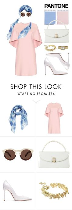 """""""Tremendously Chic Pantone Inspired Look"""" by pokets ❤ liked on Polyvore featuring beauty, Nordstrom, Valentino, Illesteva, Judith Leiber, Gianvito Rossi, Chanel, Raymond Weil and vintage"""