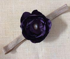 Elegant Holiday Satin Flower Headband by lilsweetheartdesigns