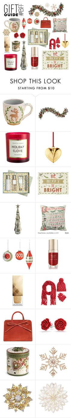 """""""Gift Guide: Vintage Feels"""" by girl-inthe-park ❤ liked on Polyvore featuring Glory Haus, Improvements, Georg Jensen, Vera Bradley, Belle Maison, Home Decorators Collection, Margaret Dabbs, Burberry, Canada Weather Gear and Mansur Gavriel"""