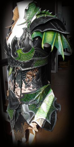 Druchii female leather armor + corset (daylight) by ~Deakath on deviantART