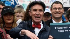 'FOR HEALTH AND PROSPERITY' Bill Nye rallies thousands amid threat of Trump cuts to science funding #Politics #iNewsPhoto