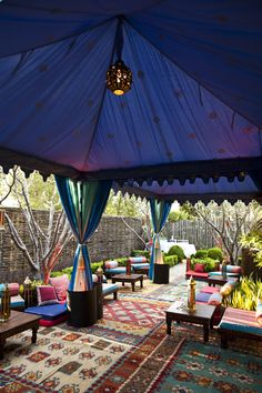 Moroccan Tented Lounge (Bella Celebrations, Raj Tents, Damion Hamilton Photography)