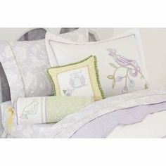Whistle & Wink Full/Queen Sheet Set, Bird Of Paradise by Whistle & Wink. $199.00. Embroidered. 240-thread-count. Machine wash/dry. 100% cotton. Hand Quilted. Set includes; flat sheet, fitted sheet and standard pillowcase in Twin size or two pillowcases in Full size. Dove grey Jacobean style print with clean white printed cutouts of charming forest creatures peaking out from romantic vines and blossoms. Beautifully detailed green feather stitch at the cuff of the pillowcase an...