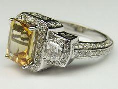 Trendy White Topaz Engagement Rings - http://femeiasimpla.com/trendy-white-topaz-engagement-rings/