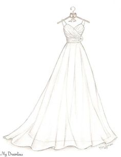 Wedding Dress Sketch Bridal Shower Gift Wedding by Dreamlines Bridesmaids gif.Wedding Dress Sketch Bridal Shower Gift Wedding by Dreamlines Bridesmaids gifts can serve as friendship gifts for# Bridal Dress Design Drawing, Dress Design Sketches, Fashion Design Sketchbook, Fashion Design Drawings, Fashion Sketches, Dress Designs, Fashion Drawing Dresses, Fashion Illustration Dresses, Fashion Dresses