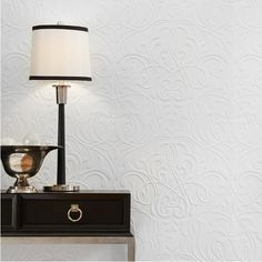 Fasade Damask 96 in. x 48 in. Decorative Wall Panel in Brushed Aluminum - The Home Depot Vinyl Wall Panels, Decorative Wall Panels, Damask Decor, Beadboard Wainscoting, Faux Stone, Home Repair, Home Goods, Home Improvement, Table Lamp