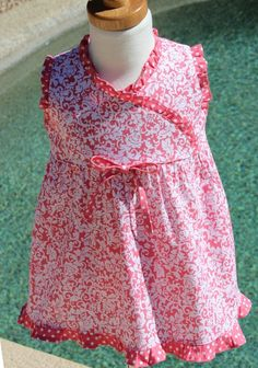 Coral, salmon pink summer dress, sleeveless dress, special occasion dress, children's clothing, girl's dress, baby girl dress, easy care on Etsy, $25.00