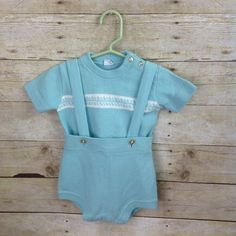 Vintage Jumper Creative Knits By Sternberg Turquoise Baby Infant Boy 2 Pieces  | eBay