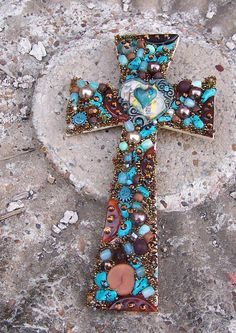 Beautiful Treasure Cross by TheQueensDaughters on Etsy, $22.00