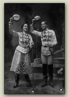vaudeville acts | ABOVE]: Jesse and sister Blanche, circa 1904. [ABOVE RIGHT]