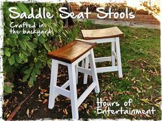 Saddle Seat Stools | Do It Yourself Home Projects from Ana White