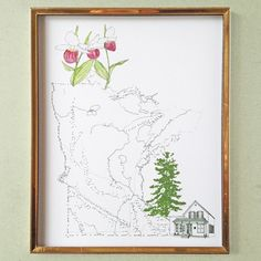 MINNESOTA State MAP 8x10 Art Print State by turnofthecenturies