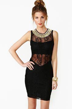 nasty gal. gilded lace dress. #fashion